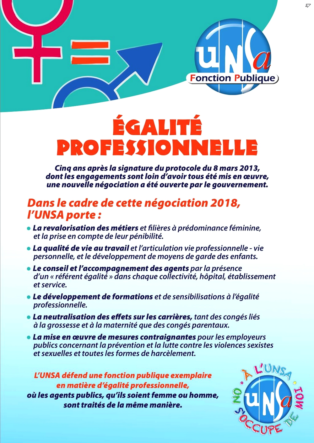 2018 09 24 Tract UNSA FP Egalite pro